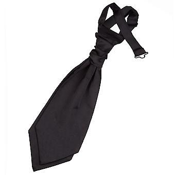 Cravat sposa pre-legato in raso nero liscio per i ragazzi