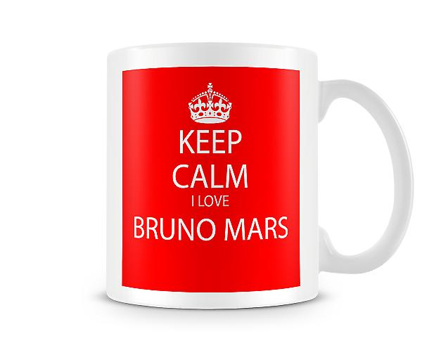 Keep Calm I Love Bruno Mars Printed Mug