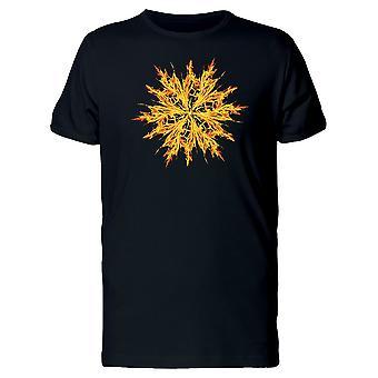 Feuer Blume T-Shirt Herren-Bild von Shutterstock
