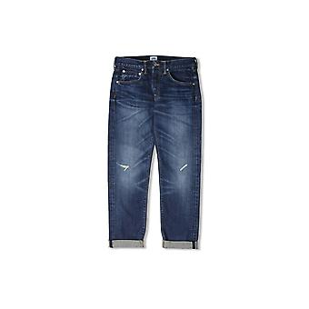 Edwin ED-55 Relaxed Tapered 63 Rainbow Selvage Jeans (Blue Contrast Dark Wash)
