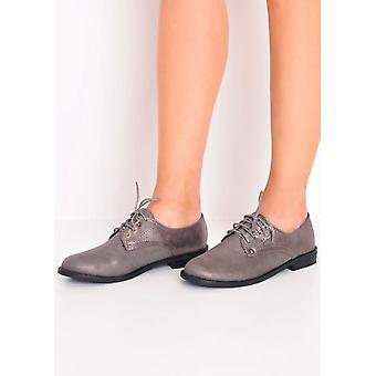 metallisk blonder op brogue sko grå
