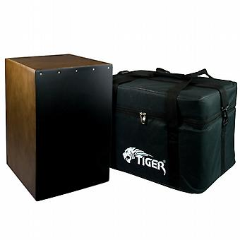 World Rhythm Brown Sandalwood Cajon with Bag