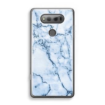 LG V20 Transparent Case - Blue marble
