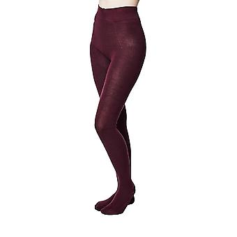 Elgin women's super-soft warm bamboo tights in aubergine |  By Thought