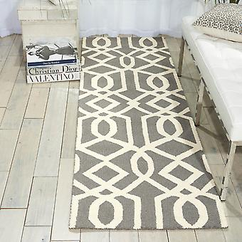 Linear Hallway Runners Lin05 In Grey And Ivory