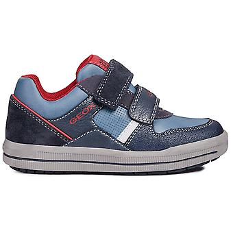 Geox Boys Arzach J844AC Shoes Navy Red