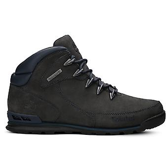 Timberland mens real leather boots Euro Rock hiker anthracite