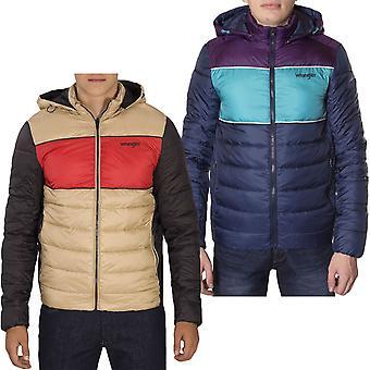 Wrangler Mens 3 Col Retro Long Sleeve Warm Padded Puffer Jacket Coat