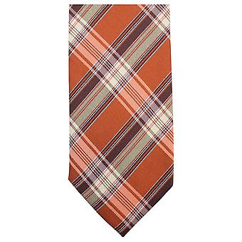 Knightsbridge halsdukar lyx rutig slips - Orange/brun