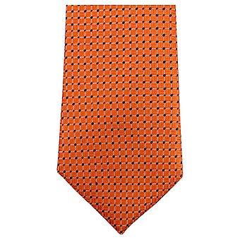 Knightsbridge Neckwear Dotted Tie - Orange/Navy