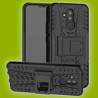 Für Huawei Mate 20 Lite Hybrid Case 2teilig Outdoor Schwarz Tasche Hülle Cover Schutz
