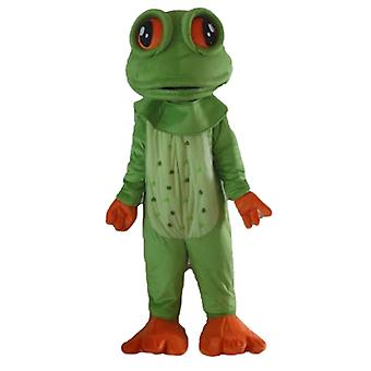 SPOTSOUND of green and orange, very realistic frog mascot