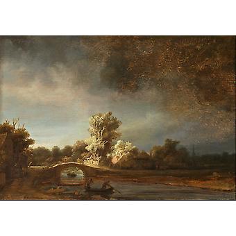 Landscape with a, Rembrandt Harmenszoon van Rijn, 29.5 x 42.3 cm