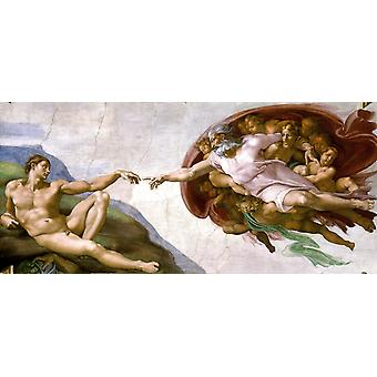 Creation of Adam,Michelangelo Buonarroti,80x40cm