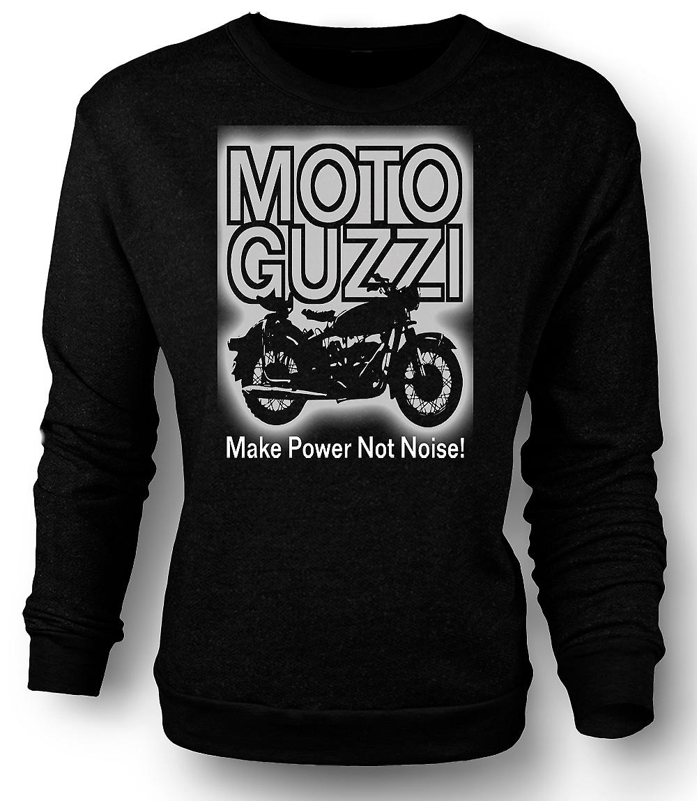 Mens Sweatshirt Moto Guzzi Make Power Not Noise