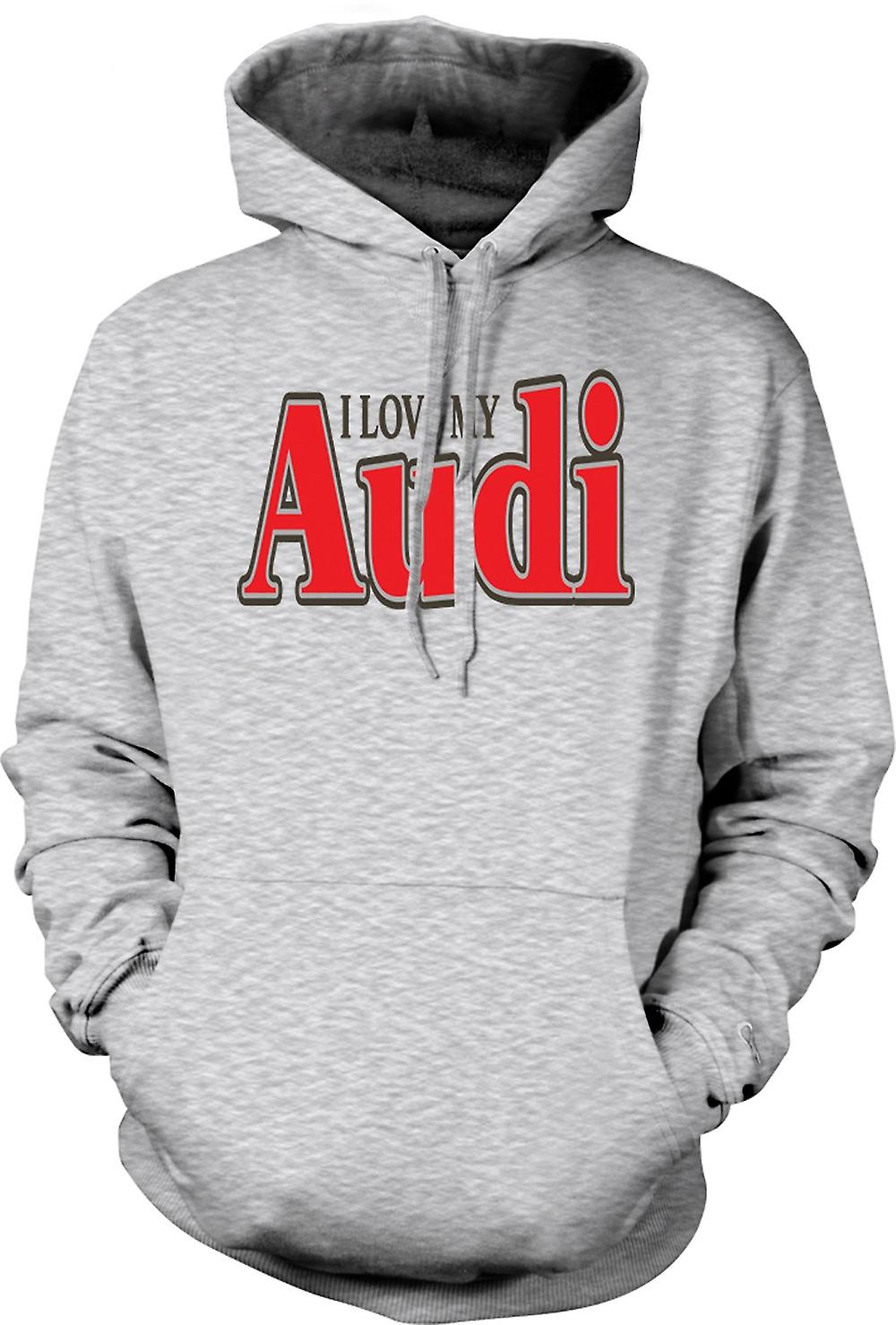 Mens Hoodie - I Love My Audi - Car Enthusiast