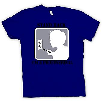 Womens T-shirt - Stand Back I'm A Professional