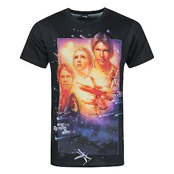 Star Wars A New Hope Sublimation Men's T-Shirt White