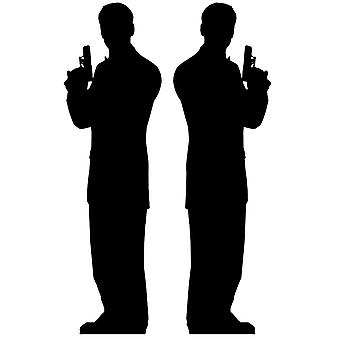 Secret Agent Male Double Pack (James Bond Style) - Lifesize Cardboard Cutout / Standee