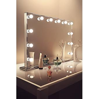 Diamond X Mirror Finish Hollywood Makeup Mirror Dimmable LED k253CW