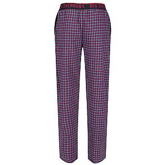 Ben Sherman Men's Woven Lounge Wear Pyjama Bottoms Pants Navy Check Bardof
