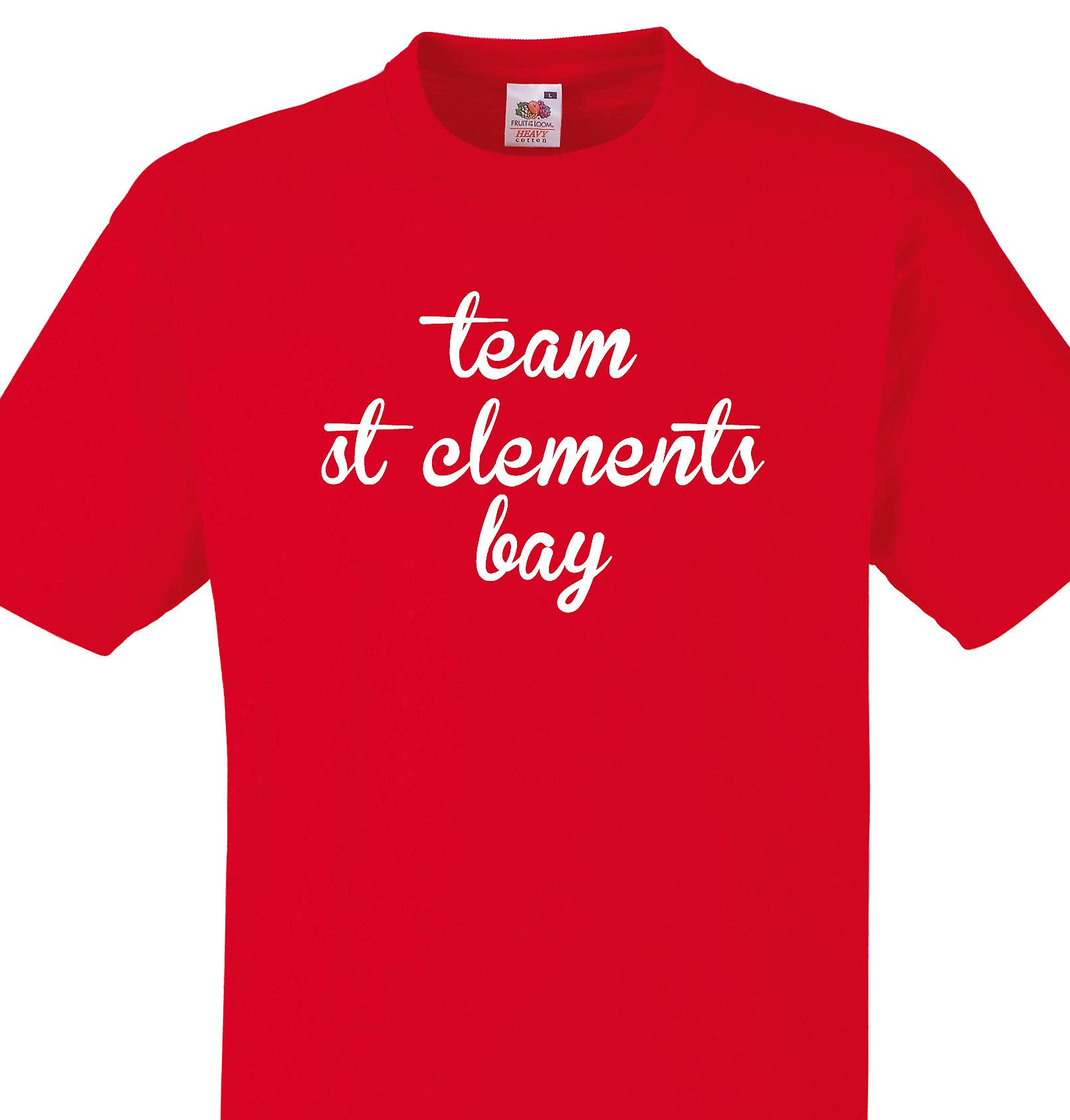 Team St clements bay Red T shirt