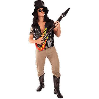 Orion Costumes Mens Guns N' Roses Slash Rock 80s Fancy Dress Costume