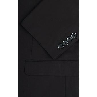 دوبيل رجالي أسود الرنجة الشريط دعوى سترة صالح العادية ذروة طية صدر السترة