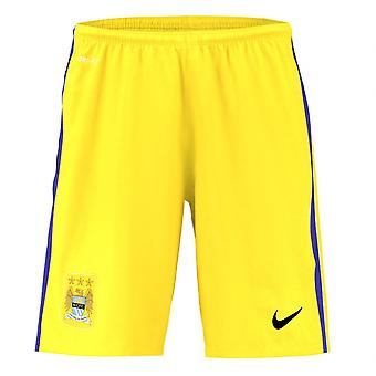 2015-2016 Man City Home Nike Torwart Shorts (gelb)