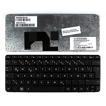 Teclado de ordenador portátil de reemplazo de HP Mini 210-1051TU marco negro negro diseño alemán