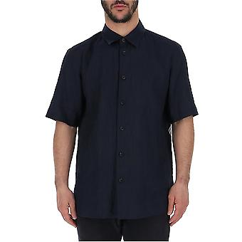Issey Miyake Blue Cotton Shirt