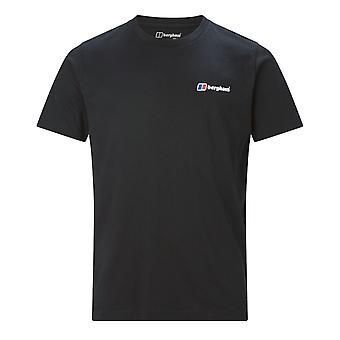 Berghaus Front & Logo arrière Mens Short Sleeve T-Shirt Outdoor Tee noir