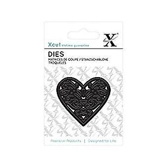 Xcut Mini Die - (1pc) Filigree Heart (XCU 503605)