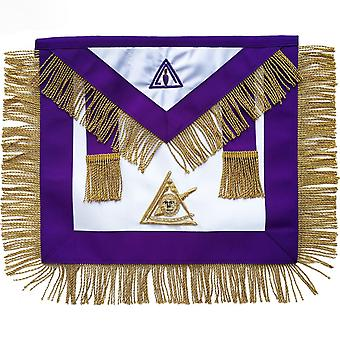 Masonic Council Past lysende Master forkle Hand brodert