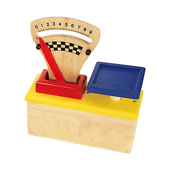 Santoys Wooden Food Scales Pretend Role Play Kitchen Accessories