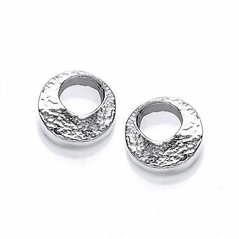 Cavendish French Organic Silver Lunar Earrings