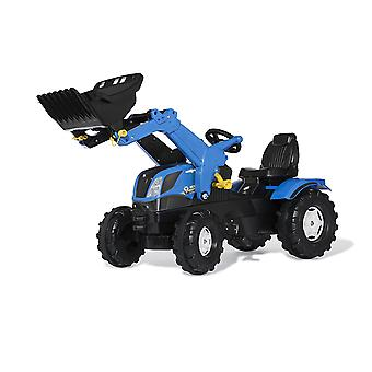 Rolly Toys New Holland T7 Pedal Tractor With Frontloader Blue and Black