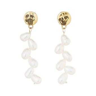 Gemshine earrings earrings white cultured beads 925 silver or gold plated