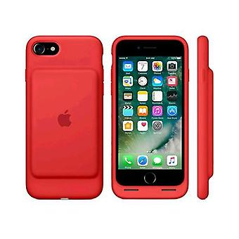Apple iphone 7 smart battery case original silicone red color