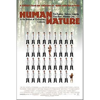 Human Nature (2001) alkuperäinen elokuva teatteri juliste