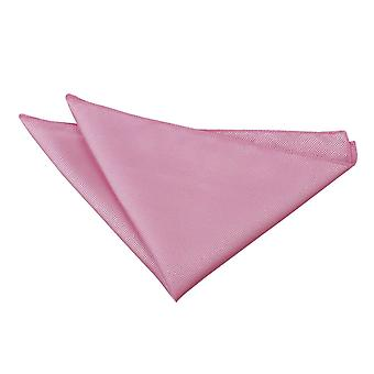 Light Pink Solid Check Handkerchief / Pocket Square