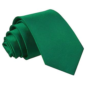 Boy's Plain Emerald Green Satin Tie (8+ years)