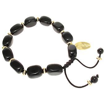 Lola Rose Angel Bracelet Black Obsidian & Black Agate