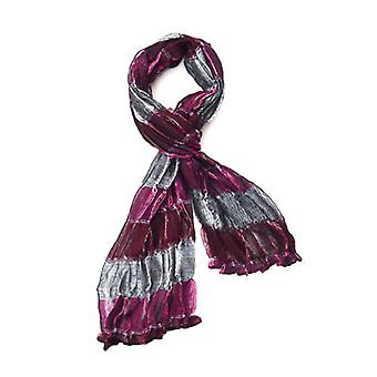 Fancy Gathered Evening Scarf Pink & Silver