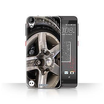STUFF4 Case/Cover for HTC Desire 530/Grey/Silver/Alloy Wheels