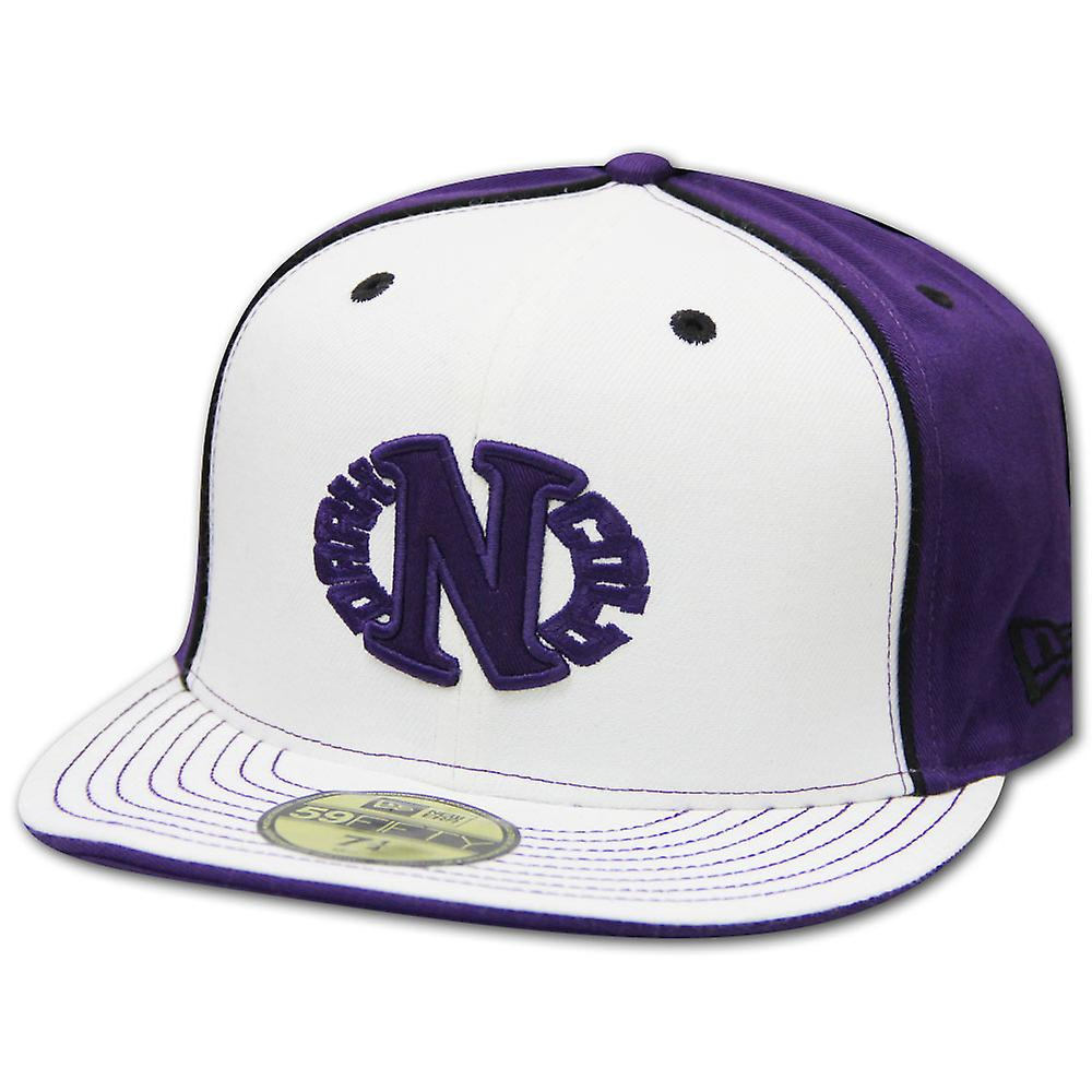 Dark n Cold Egg Logo Baseball Cap White Purple Back