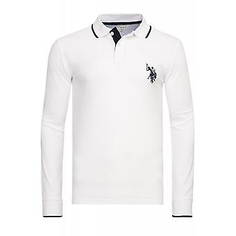 U.S. POLO ASSN. Shirt Sweatshirt mens Polo long sleeve shirt White 51887 100