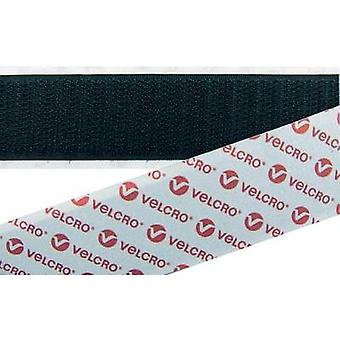 Hook-and-loop strips stick-on Loop pad (L x W) 25000 mm x 100 mm Black VELCRO® brand E088100330F1825 25 m