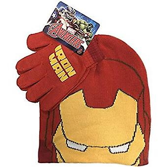 Marvel Avengers Iron Man barnens Hat & Glove Set