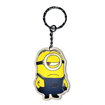 Despicable Me Puffy Key Chain | Minion Keyring | ONE EYE MINION